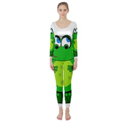 Green Frog Long Sleeve Catsuit by Valentinaart