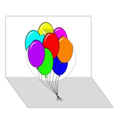 Colorful Balloons Circle 3d Greeting Card (7x5)  by Valentinaart