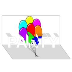 Colorful Balloons Party 3d Greeting Card (8x4)  by Valentinaart