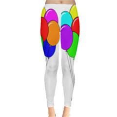 Colorful Balloons Leggings  by Valentinaart