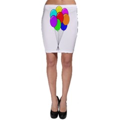 Colorful Balloons Bodycon Skirt by Valentinaart
