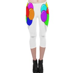 Colorful Balloons Capri Leggings  by Valentinaart
