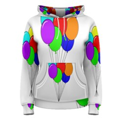 Colorful Balloons Women s Pullover Hoodie by Valentinaart