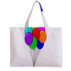 Colorful Balloons Zipper Mini Tote Bag by Valentinaart