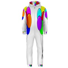 Colorful Balloons Hooded Jumpsuit (men)  by Valentinaart