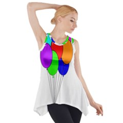 Colorful Balloons Side Drop Tank Tunic by Valentinaart