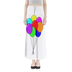 Colorful Balloons Maxi Skirts by Valentinaart