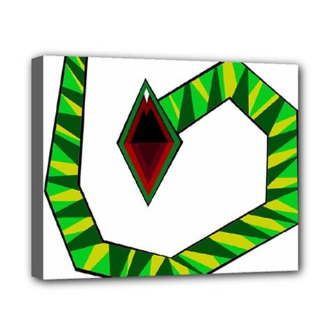 Decorative Snake Canvas 10  X 8  by Valentinaart