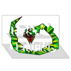 Decorative Snake Best Friends 3d Greeting Card (8x4)  by Valentinaart