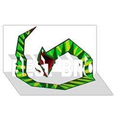 Decorative Snake Best Bro 3d Greeting Card (8x4)  by Valentinaart