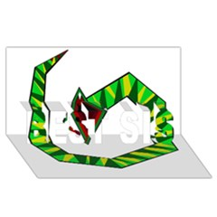 Decorative Snake Best Sis 3d Greeting Card (8x4)  by Valentinaart