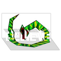 Decorative Snake Believe 3d Greeting Card (8x4)  by Valentinaart
