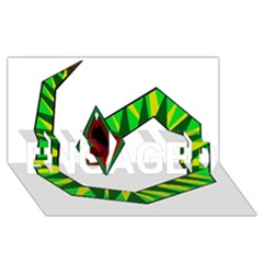 Decorative Snake Engaged 3d Greeting Card (8x4)  by Valentinaart