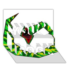 Decorative Snake You Rock 3d Greeting Card (7x5)  by Valentinaart