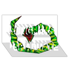 Decorative Snake Congrats Graduate 3d Greeting Card (8x4)  by Valentinaart