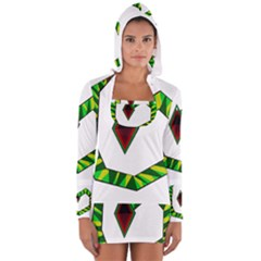 Decorative Snake Women s Long Sleeve Hooded T Shirt by Valentinaart