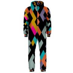 Connected shapes                                                                             Hooded Jumpsuit (Men) by LalyLauraFLM
