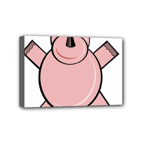Pink Rhino Mini Canvas 6  X 4  by Valentinaart
