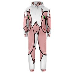 Pink Rhino Hooded Jumpsuit (men)  by Valentinaart