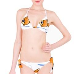 Cute Fish Bikini Set by Valentinaart