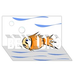 Cute Fish Best Bro 3d Greeting Card (8x4)  by Valentinaart