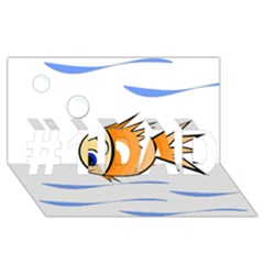 Cute Fish #1 Dad 3d Greeting Card (8x4)  by Valentinaart