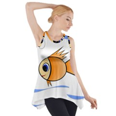 Cute Fish Side Drop Tank Tunic by Valentinaart
