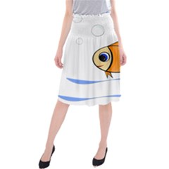 Cute Fish Midi Beach Skirt by Valentinaart