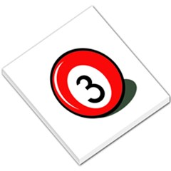 Billiard Ball Number 3 Small Memo Pads by Valentinaart