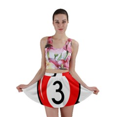 Billiard Ball Number 3 Mini Skirt by Valentinaart