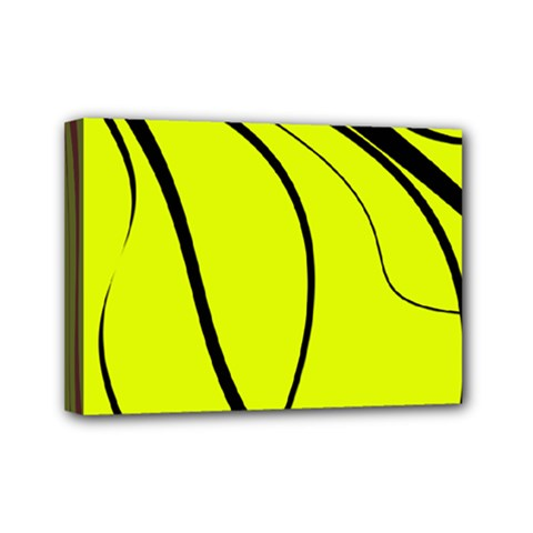 Yellow Decorative Design Mini Canvas 7  X 5  by Valentinaart