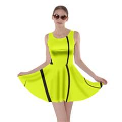 Yellow Decorative Design Skater Dress by Valentinaart