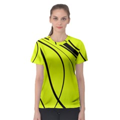 Yellow Decorative Design Women s Sport Mesh Tee by Valentinaart
