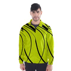 Yellow Decorative Design Wind Breaker (men) by Valentinaart