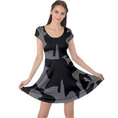 Decorative Elegant Design Cap Sleeve Dresses by Valentinaart