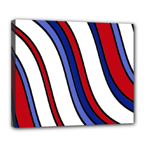 Decorative Lines Deluxe Canvas 24  X 20   by Valentinaart