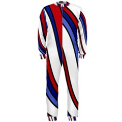 Decorative Lines Onepiece Jumpsuit (men)  by Valentinaart