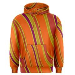 Orange Lines Men s Pullover Hoodie by Valentinaart