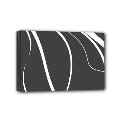 Black And White Elegant Design Mini Canvas 6  X 4  by Valentinaart