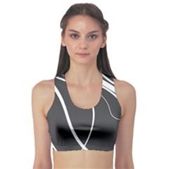 Black And White Elegant Design Sports Bra by Valentinaart