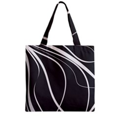 Black And White Elegant Design Grocery Tote Bag by Valentinaart