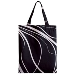 Black And White Elegant Design Zipper Classic Tote Bag by Valentinaart