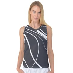 Black And White Elegant Design Women s Basketball Tank Top by Valentinaart