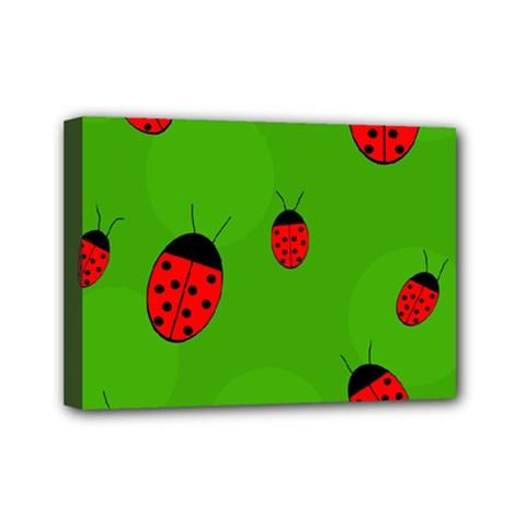 Ladybugs Mini Canvas 7  X 5  by Valentinaart