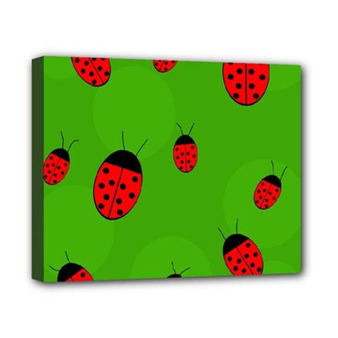 Ladybugs Canvas 10  X 8