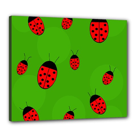 Ladybugs Canvas 24  X 20  by Valentinaart