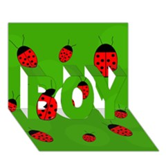 Ladybugs Boy 3d Greeting Card (7x5) by Valentinaart