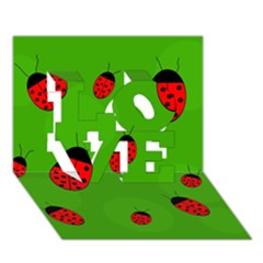 Ladybugs Love 3d Greeting Card (7x5)  by Valentinaart