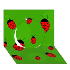 Ladybugs Circle 3d Greeting Card (7x5)  by Valentinaart