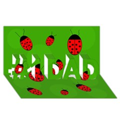 Ladybugs #1 Dad 3d Greeting Card (8x4)  by Valentinaart